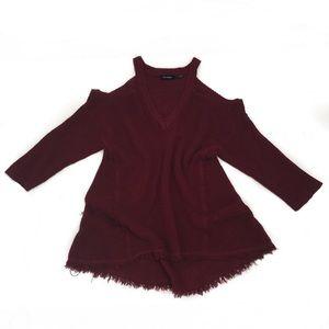 Blu Pepper Cold Shoulder Sweater